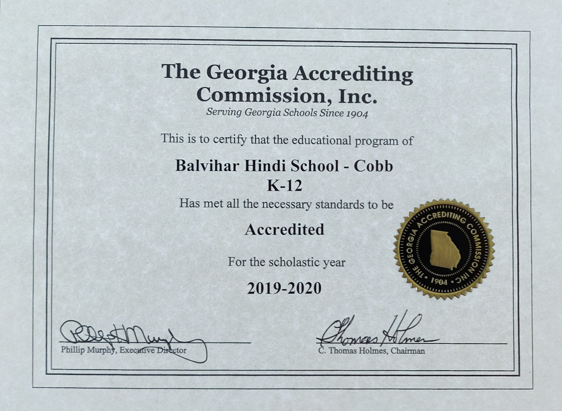 Cobb2019-20Accreditation
